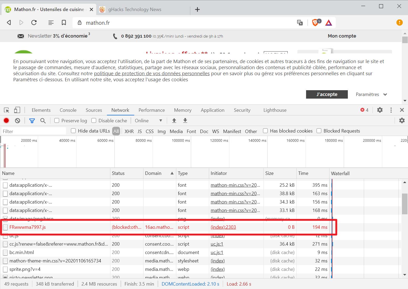 brave-browser-cname based cloaking blocked