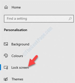 Pantalla de bloqueo de la personalización