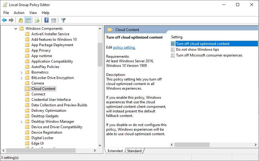 apagar el contenido optimizado de la nube