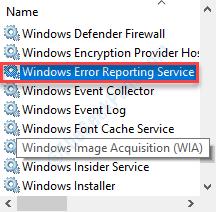 Informe de error de Windows Dc Min