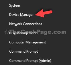 Administrador de dispositivos Win + X