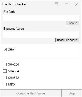 File Hash Checker es un programa ligero que se puede utilizar para comprobar la integridad de los archivos
