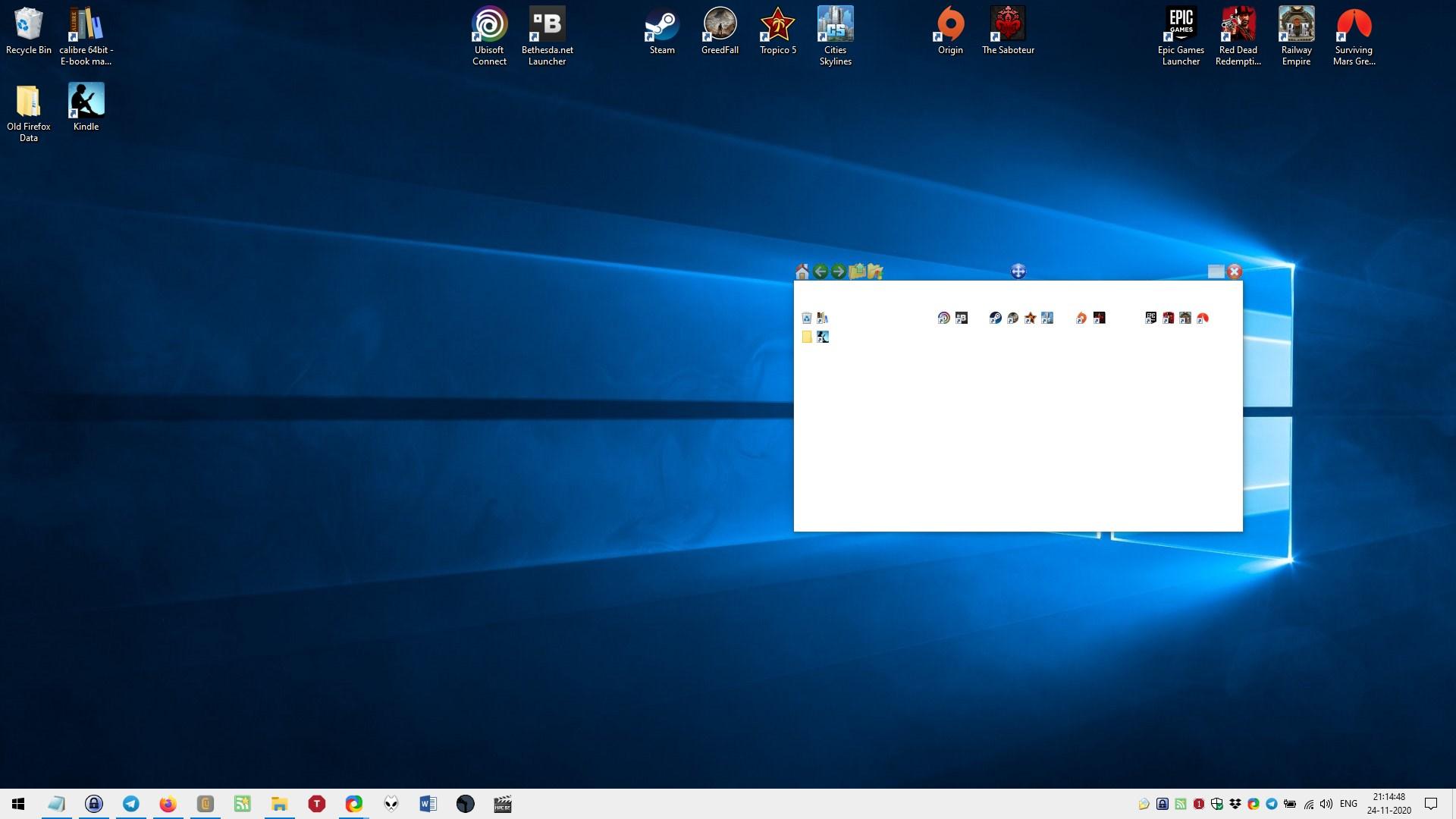 QuickWayToFolders proporciona una forma única de acceder a los accesos directos y carpetas de su escritorio
