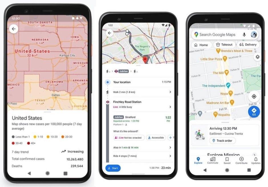 Google agrega algunas funciones nuevas a Google Maps: Google lanza el modo de conducción Asistente y funciones relacionadas con COVID para Google Maps