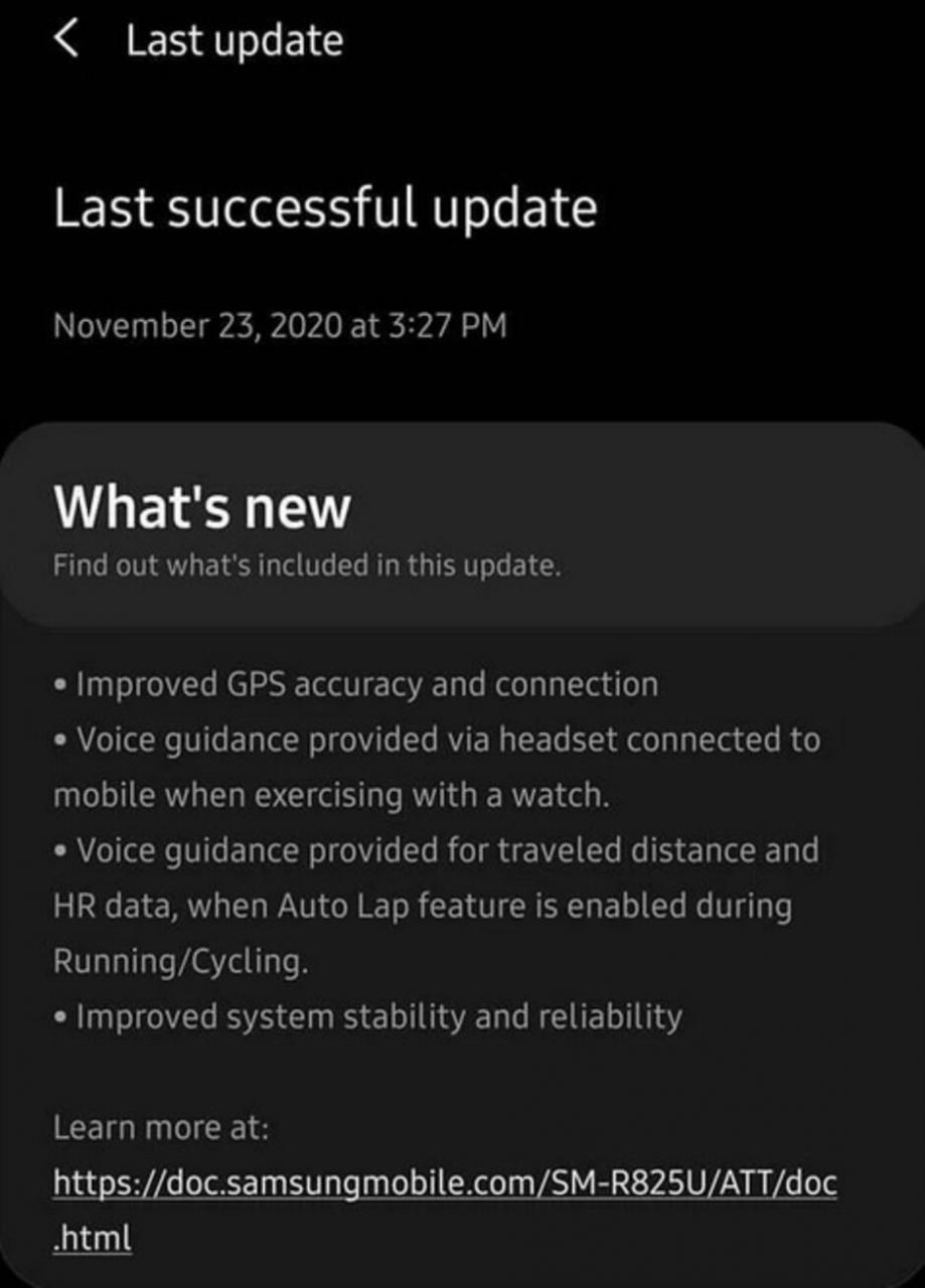 El Samsung Galaxy Watch Active 2 recibió una actualización de firmware en los EE. UU. - Samsung actualiza el Galaxy Watch Active 2 LTE de EE. UU. Mejorando varias funciones