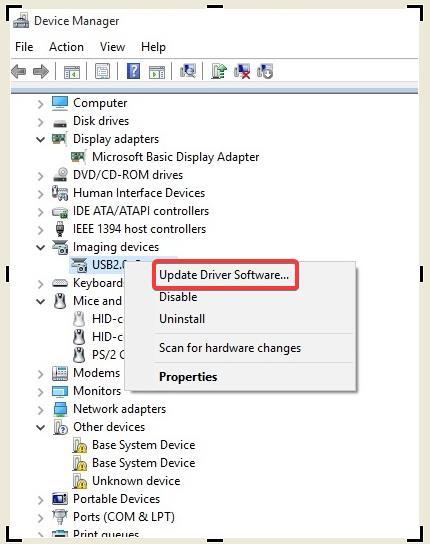 Desinstalación del controlador de dispositivo BSOD