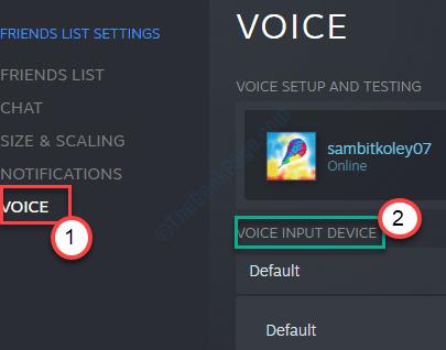 Dispositivo de entrada de voz y voz Mín.