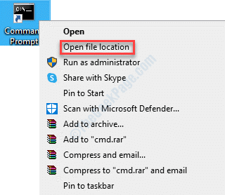 Escritorio Cualquier programa Haga clic con el botón derecho en Abrir ubicación de archivo