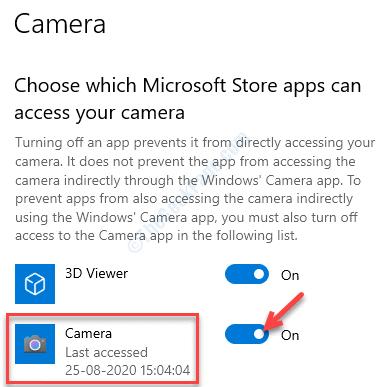 Elija qué aplicaciones de Microsoft Store pueden acceder a su cámara Encienda la cámara