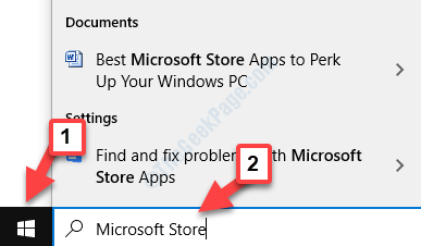Escritorio Iniciar búsqueda Microsoft Store
