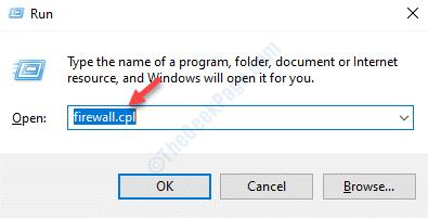 Ejecutar Command Firewall.cpl Enter