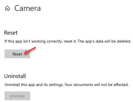 Restablecer opciones avanzadas de la cámara