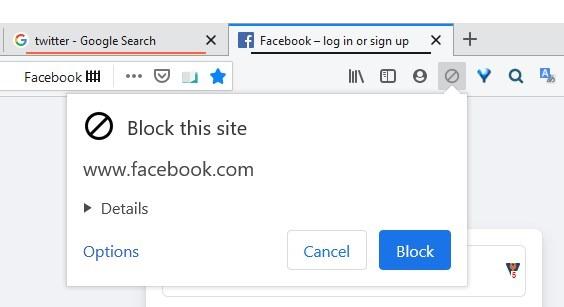 Sitio de bloqueo de extensión Ublacklist