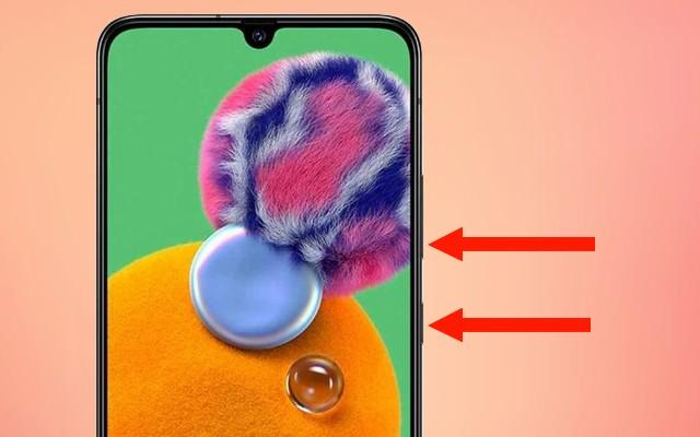 Cómo tomar una captura de pantalla en Galaxy A90