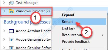 Minuto de tarea final del Explorador de Windows