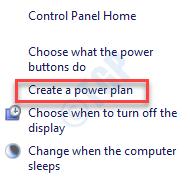 Crear un plan de energía mínimo