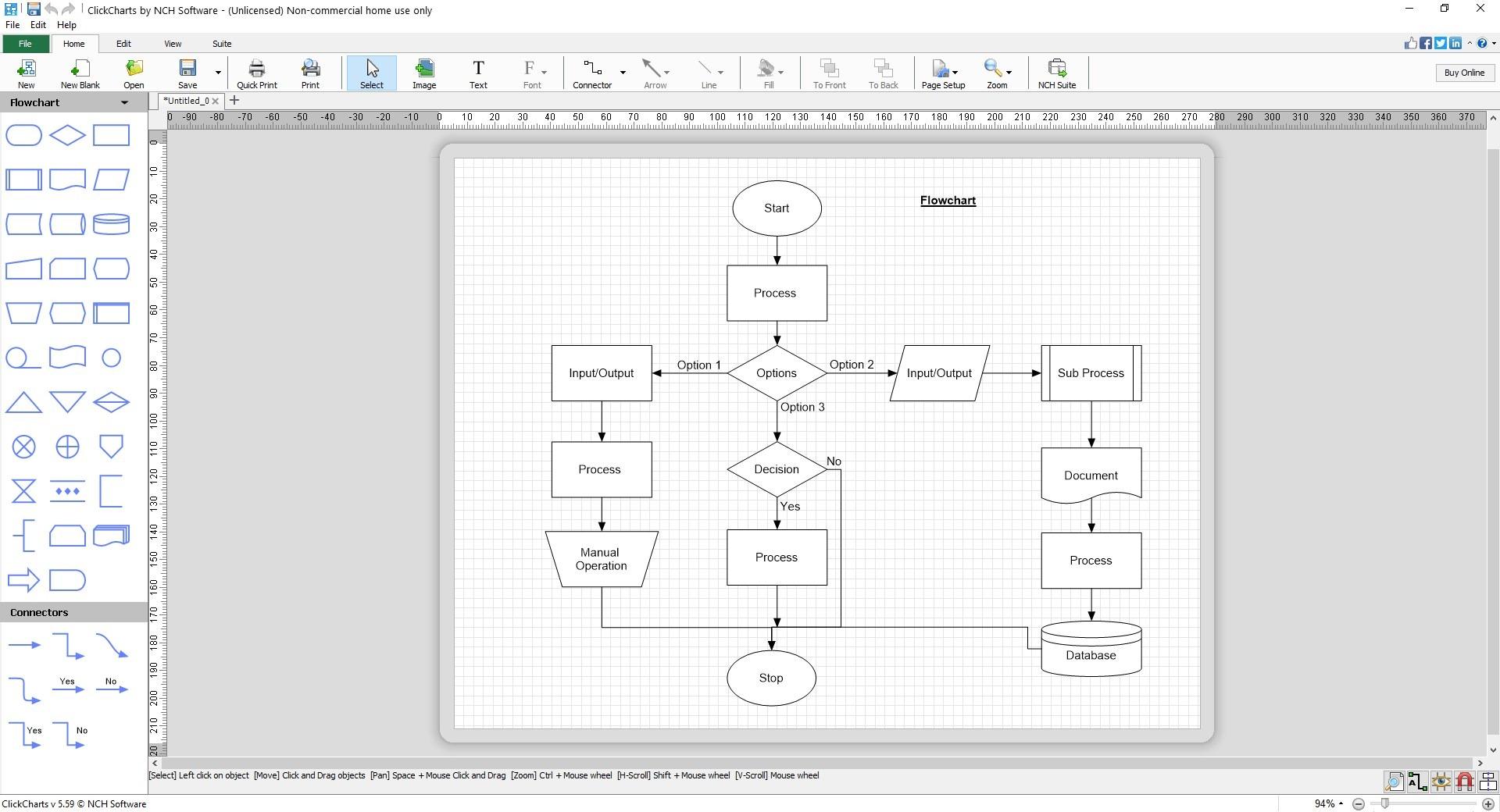Cree diagramas de flujo, diagramas de Venn, mapas mentales y más con ClickCharts