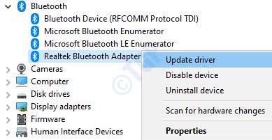 12 Actualizar controlador de Bluetooth