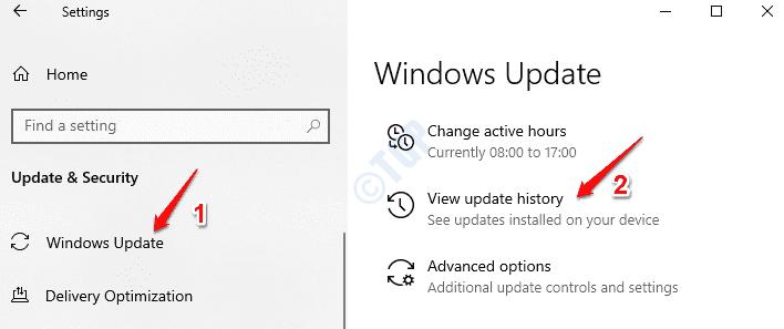 Historial de actualizaciones de Windows