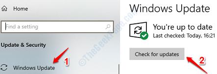 4 Compruebe las actualizaciones de Windows