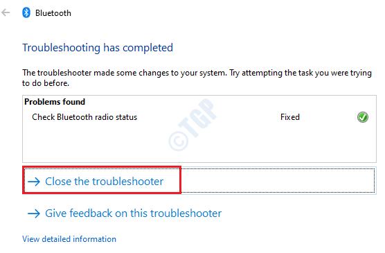 6 Solucionador de problemas de cierre de Bluetooth