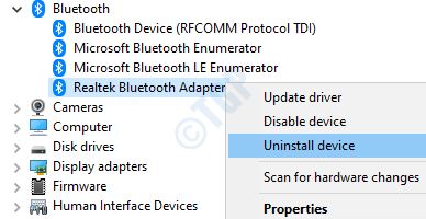 17 Desinstalar dispositivo Bluetooth