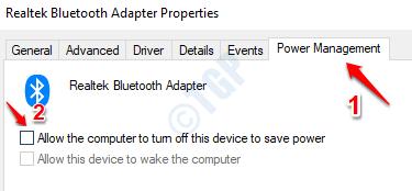 16 Administración de energía Bluetooth