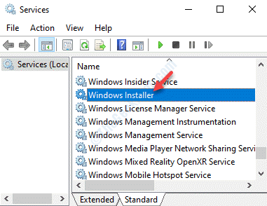 Servicios Nombre Windows Installer