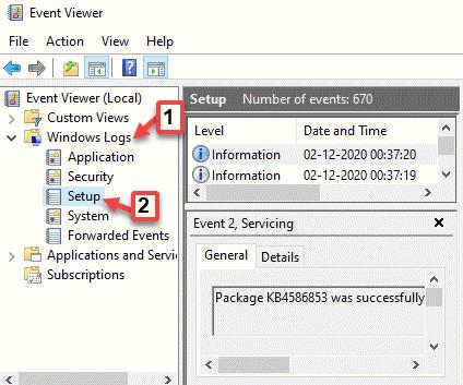 Configuración de registros de Windows del visor de eventos