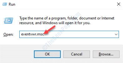 Ejecute el comando Eventvwr.msc Enter