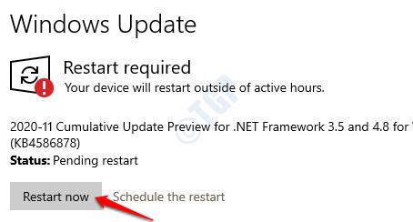 11 Windows Update Reiniciar ahora