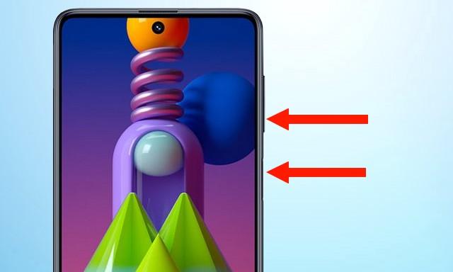 Captura de pantalla en Samsung Galaxy M51
