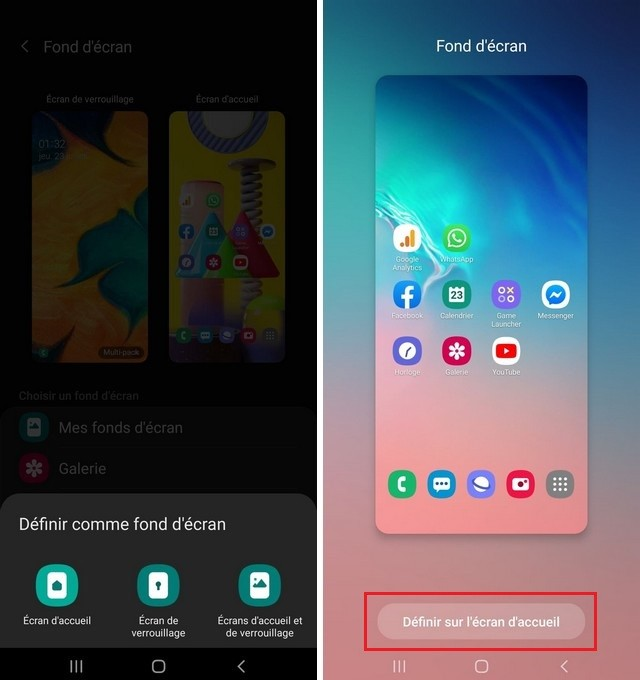Seleccione el fondo de pantalla en Samsung A12