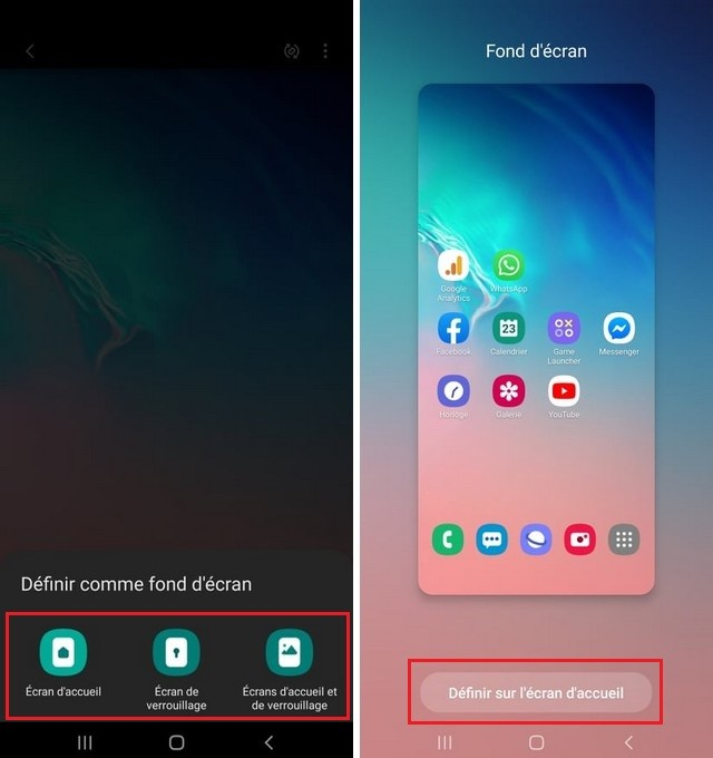 Cambie el fondo de pantalla en Samsung A12