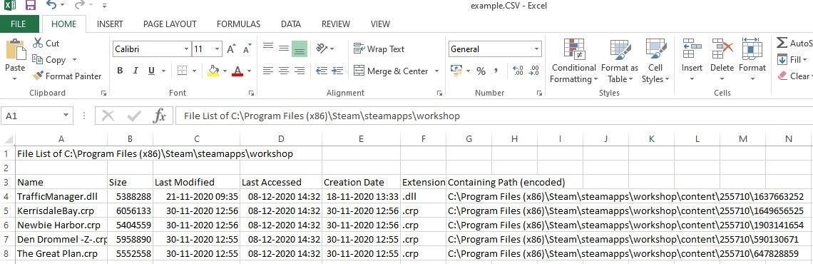 resultado de filtro personalizado de lista de archivos
