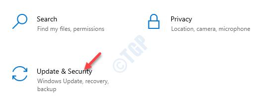 Configuración de actualización y seguridad