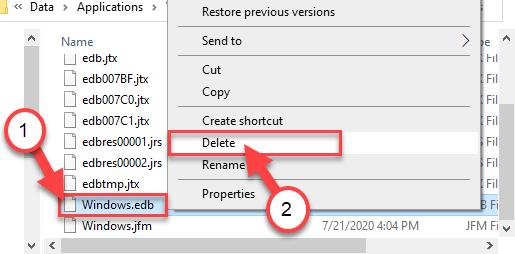 Windowsedb Eliminar Min