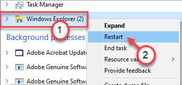 Explorador de Windows Finalizar tarea Min Min