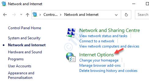 Red e Internet Opciones de Internet