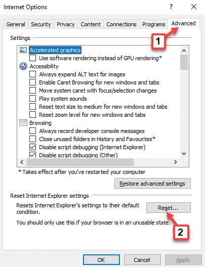 Restablecimiento avanzado de Internet Explorer Restablecimiento de la configuración de Internet Explorer