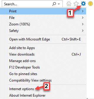 Internet Explorer Geear Icon Opciones de Internet