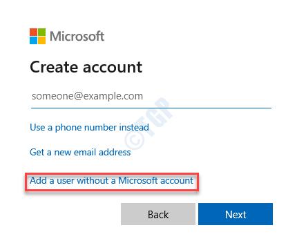Crear cuenta Agregar un usuario sin una cuenta de Microsoft