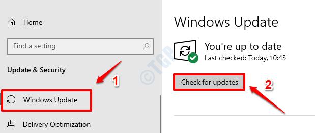 2 Compruebe las actualizaciones de Windows
