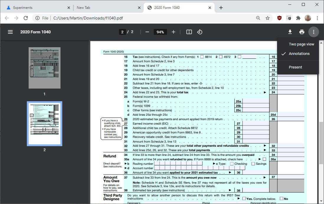 chrome pdf viewer update