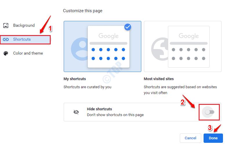 2 Accesos directos ocultos de Chrome desactivados