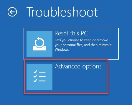 Solucionar problemas Restablecer esta PC Opciones avanzadas Inicio Reparación Mín Mín