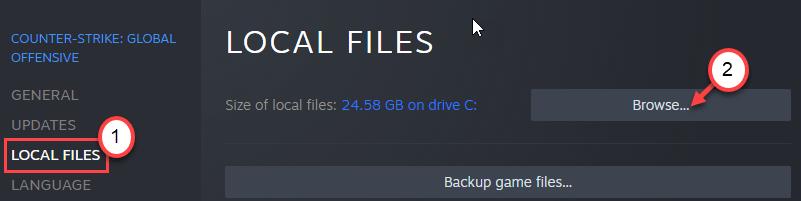Exploración de archivos locales Mín.