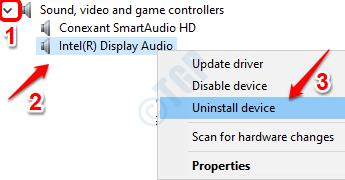 4 Desinstalación del controlador de audio
