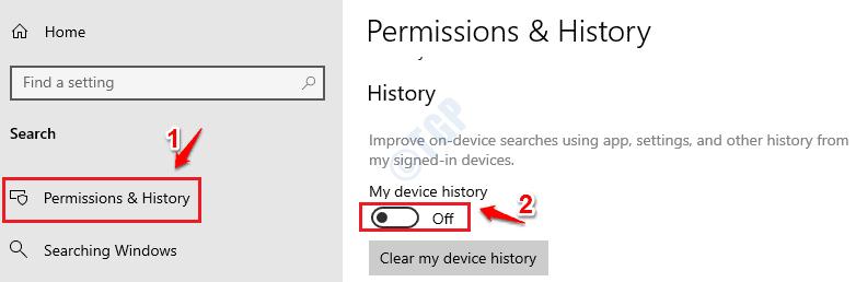 3 Historial del dispositivo desactivado