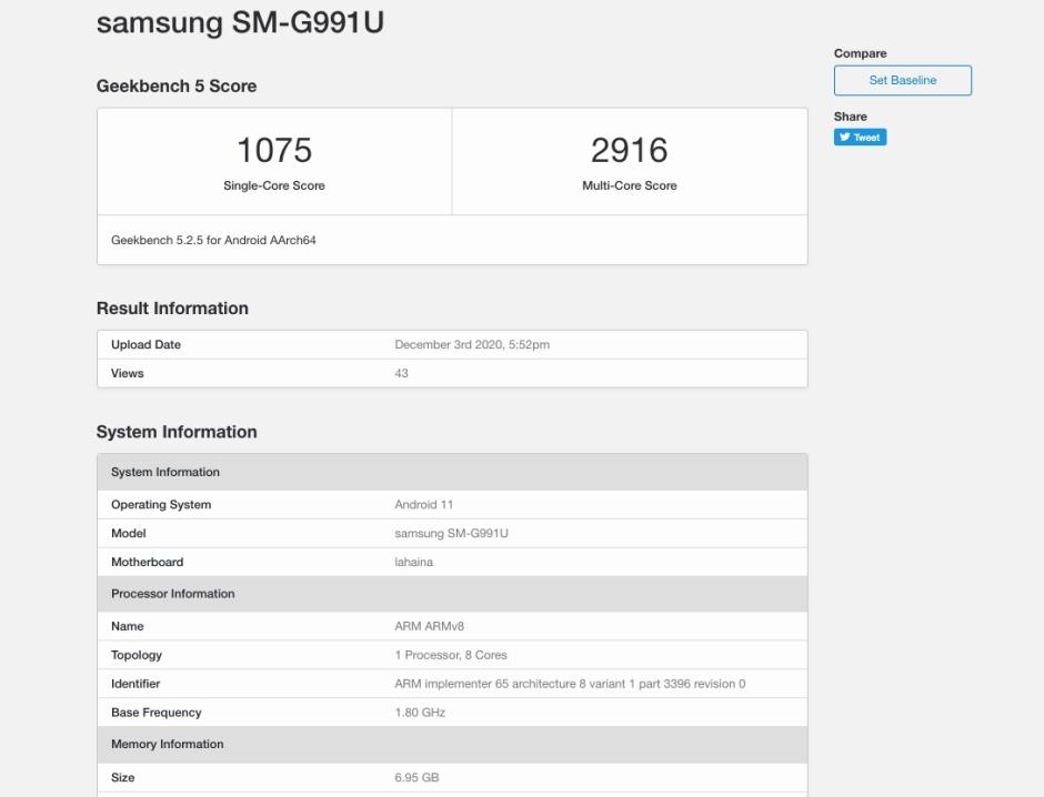 Nuevo punto de referencia Galaxy S21 5G - Samsung Galaxy S21 5G con Snapdragon 888 publica puntuaciones de referencia decepcionantes